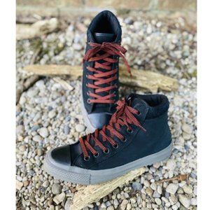 Converse Unisex Leather Black High Top Sneakers6.5